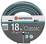 Gardena Classic Schlauch 13 mm (1/2 Zoll), 18 m: Universeller Gartenschlauch aus robustem Kreuzgewebe, 22 bar Berstdruck, UV-beständig, ohne Systemteile (18002-20)