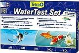Tetra WaterTest Set - bestimmt zuverlässig & genau 5 wichtige Wasserwerten im Aquarium oder Gartenteich, professionelles Testlabor