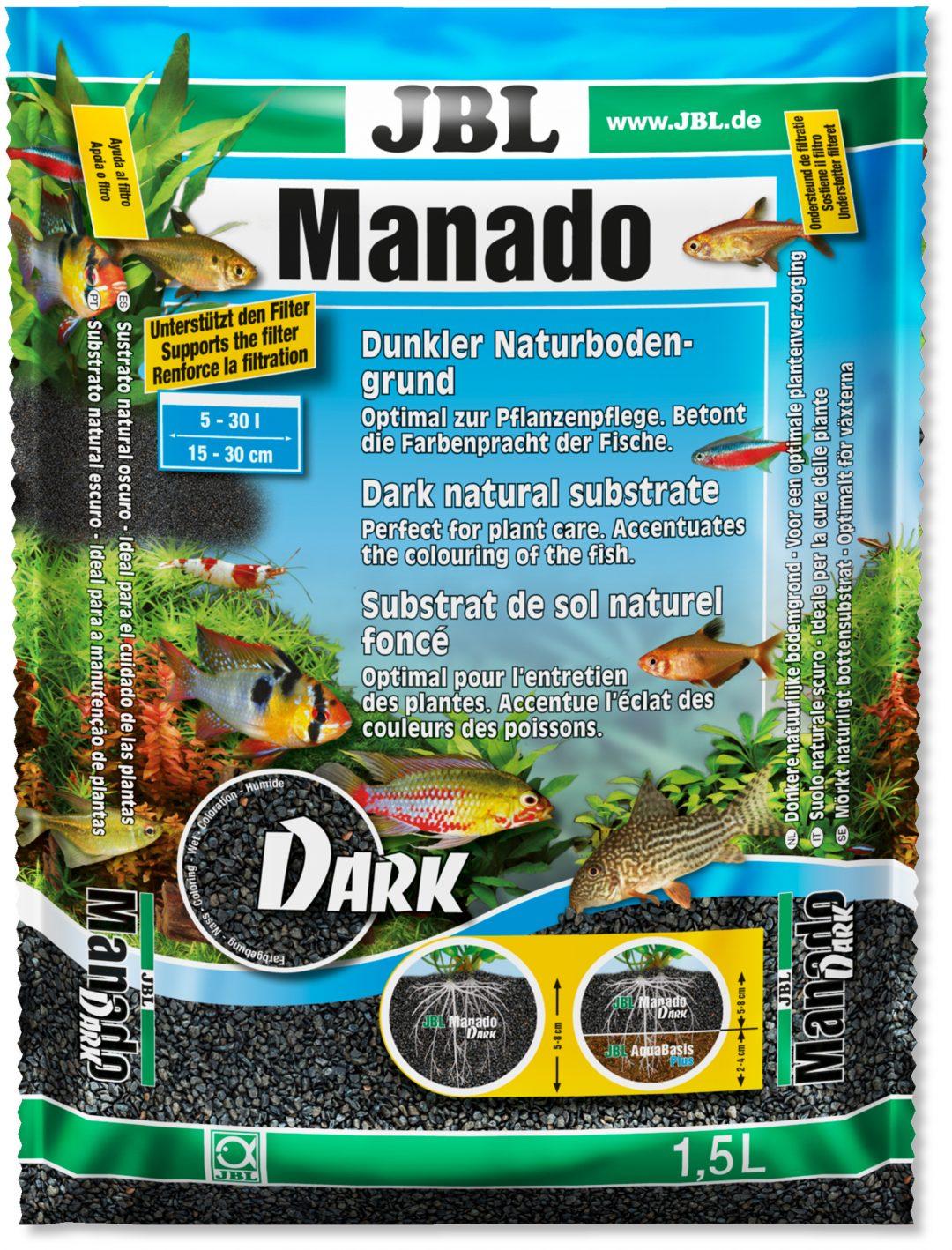 JBL Manado Black. Der beliebte Bodengrund jetzt auch in der Farbe Schwarz